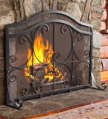 flat guard fire screen fireplace accessories tools plow hearth