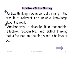 barriers of critical thinking essay example for expert  barriers of critical thinking essay example for