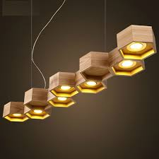 slatted wooden Honeycomb structure Pilke series Pendant lamps by Pilke Light  suspension wood lighting-in Pendant Lights from Lights & Lighting on ...