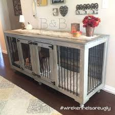 decoration best dog crate furniture ideas on puppy diy large table