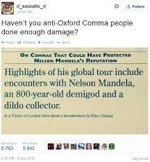 when is a comma used oxford commas nelson mandela and stephen king sentence first