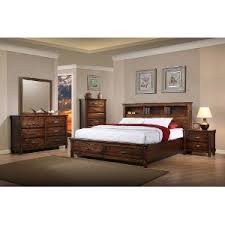 Brown Rustic Classic 6Piece King Bedroom Set  Jessie