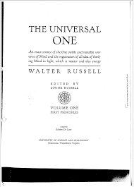 Walter Russell Secret Of Light Pdf Walter Russell The Universal One Alchemy Chemistry Pdf