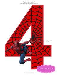 spiderman birthday number