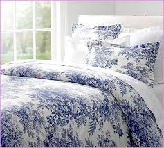 french toile bedding blue