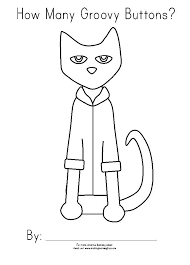Pete The Cat Rocking School Shoes Coloring Page Free Pages White