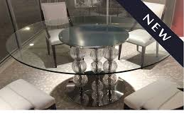 pasha round dining table glass top