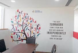 Office walls design Wood Tree Of Life Delhi Print Wallpaper Office Wall Decor Ideas