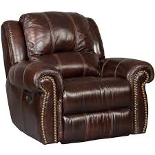 furniture saddle brown glider recliner