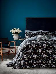 v a v a gardenia super king duvet cover set black duvet covers meubles