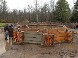 Concrete Cabin Minimizing Foundations Work With Shipping Containers Sea