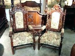 old dining room chair styles furniture art armchair brown leather chairs xiii style dining room table harry styles