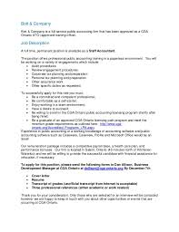 Bott And Co Staff Accountant Position