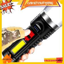Đèn Pin Siêu Sáng MINI 2 Trong 1 Có Sạc Cổng USB Có Zoom Led Chớp, Nhiều Chế  Độ Đèn - Đèn pin Thương hiệu No brand