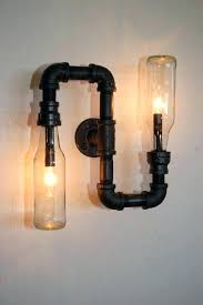 industrial pipe lighting.  Pipe Good How To Make Pipe Light Fixture With Industrial Wall Vanity  Steampunk Lamp By To Industrial Pipe Lighting