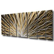 Easy and ready to hang by hardware in back Vibration 66 X24 Large Earthtone Brown Modern Abstract Metal Wall Art Sculpture Dv8 Studio