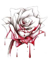 bloddy rose by gabriel baez painting the roses redred