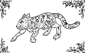 Leopard Coloring Pages Easy Drawn Snow Leopard Easy Coloring Pages