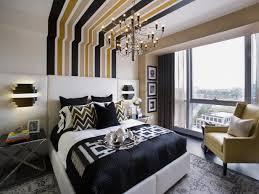 Black and Gold Master Bedroom | HGTV