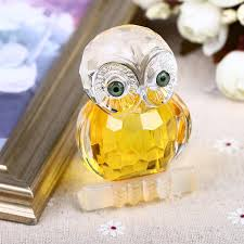 2018 2 7 glass crystal cut owl figurines paperweight crafts art collection table car ornaments souvenir home wedding decoration from monster guardians