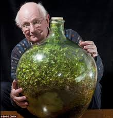 still going strong pensioner david latimer from cranleigh surrey with his bottle garden