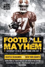 football flyer templates football mayhem vol 2 flyer template download sport event flyers