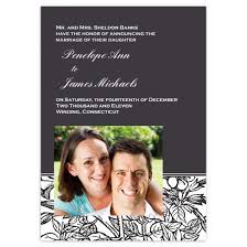 Wedding Announcement Photo Cards Plant Pattern 3 5x5 Wedding Announcement Card Stationery Cards