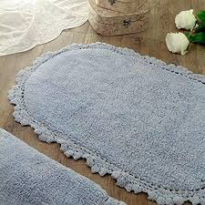 wonderful oval bath rugs oval bath mat bath rug vintage shabby chic farmhouse crochet light blue wonderful oval bath rugs
