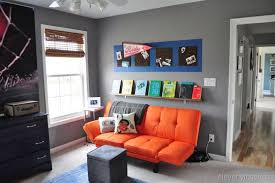 gray and orange boys room 5