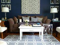 blue walls brown furniture. Home Tour// Living Room With Navy Blue Wall--\u003elet\u0027s Recreate This For Our But In Brighter Colors @Kyle Smith Walls Brown Furniture B