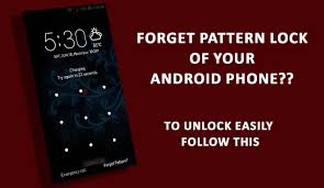 How To Unlock Phone Pattern Simple How To Unlock Android Smartphone When You Forgot It's Pattern