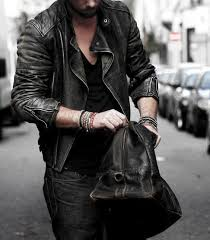 how to wear a leather jacket manly leather jacket outfits male style ideas black v neck