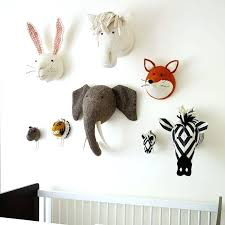 nursery animal heads image of style animal head wall decor baby nursery animal heads