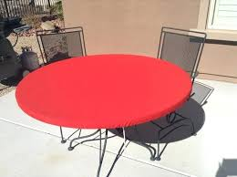 round vinyl tablecloth with elastic round outdoor fitted tablecloth soil and stain resistant washable select from elastic or vinyl tablecloth elastic