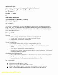 Duties Of A Warehouse Worker For Resume Luxury 20 Resume For