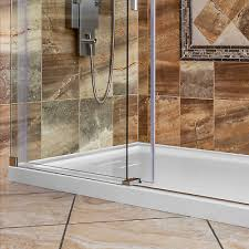 shower base pan single double threshold right left drain 48 x 36 by lesscare