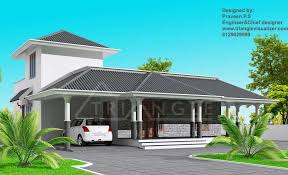 Small Picture Stylish Kerala Home Design at 1860 sqft