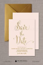 the 25 best gold save the dates ideas on pinterest wedding save Wedding Invitations Or Save The Dates blush pink & gold save the date cards gold glitter modern boho chic glam pastel pink invites free priority shipping or diy printable mila wedding invitations and save the date sets