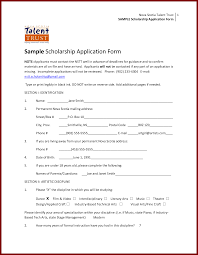 scholarship application template sample sendletters info sample scholarship application form as pdf