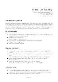 Professional Nanny Resume Sample Cover Letter Purpose Sample Professional Resume