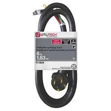 shop extension cords at lowes com utilitech 6 ft 50 amp 6 gauge black indoor extension cord