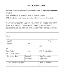 Incident Report Log Template Accident Report Form Template Best Of