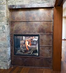 volcanic stainless steel fireplace surround contemporary family room