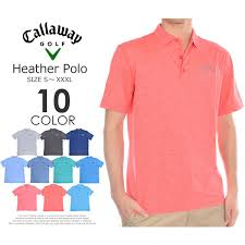 Stock Disposal The Size Usa Direct Import That Stylish Calloway Callaway Golf Wear Mens Wear Heather Short Sleeves Polo Shirt Has A Big In The