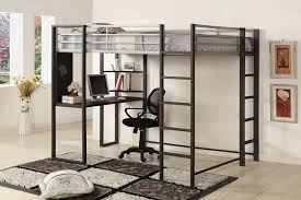 Full Size Loft Bed With Storage Steel — Modern Storage Twin Bed