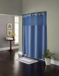 Amazon.com: Hookless RBH82MY417 Fabric Shower Curtain with Built ...