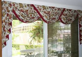 Lovely Floral Scarf Valance As Patio Door Window Treatments With Patio Sets  Ideas As Decorate In Country Home Decors Ideas