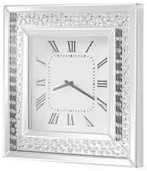 sparkle 20 contemporary crystal square wall clock clear contemporary wall clocks by elegant furniture lighting