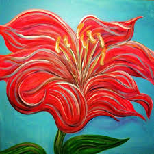 my brand new big original abstract painting lily sold by emmajlock