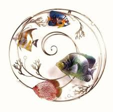 four fish in a swirl metal wall art on fish swirl metal wall art with welcome to inspire on the danforth a great little store for great